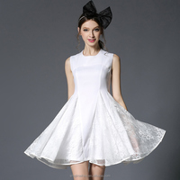 wholesale clothing pure color lace short full dress