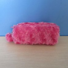 2012 hot sale high quality designer hot pink make up rose bag