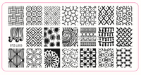 2015 customized stamping nail art plate/ nail art decoration
