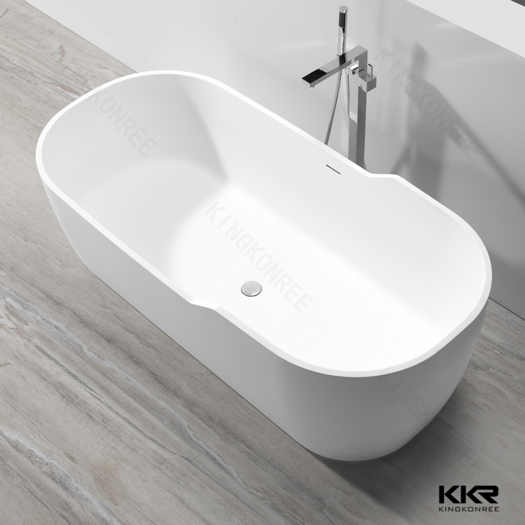 Artificial stone resin freestanding italian bathtubs
