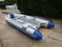 2015 Most Fashionable BLUE Inflatable Boat for 4 persons 270cm aluminium floor!!!