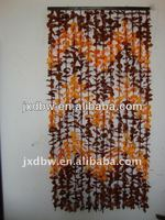 Colored Oriental Style Leaf Design Curtain Fabric 2013