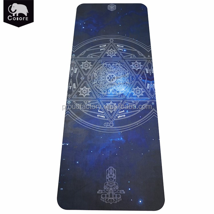 OEM manufacturers customize printed non slip nbr workout mat for sports exercise yoga
