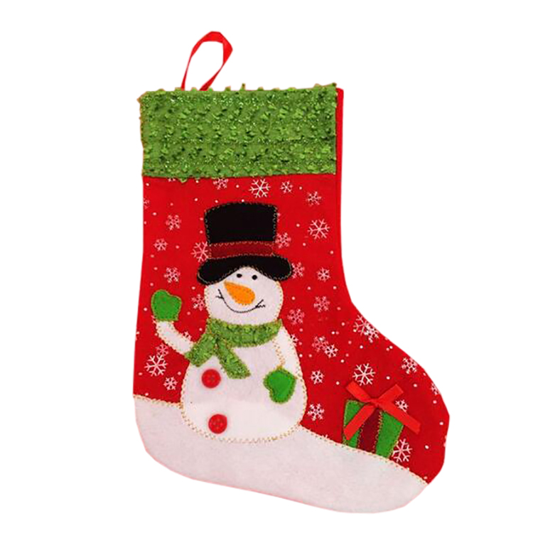 Festive christmas stocking for christmas decorating