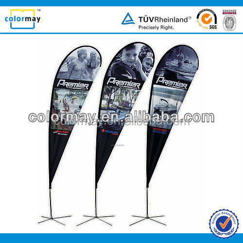 340cm Double Sided Advertising Outdoor Sail Banner Stand