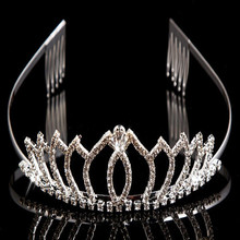 fashion charming crystal crown pageant delicate style tiara for girls ladies