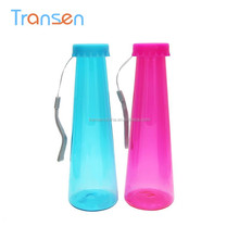 Made In China home & garden flask shaped plastic water bottle 400ml plastic flask