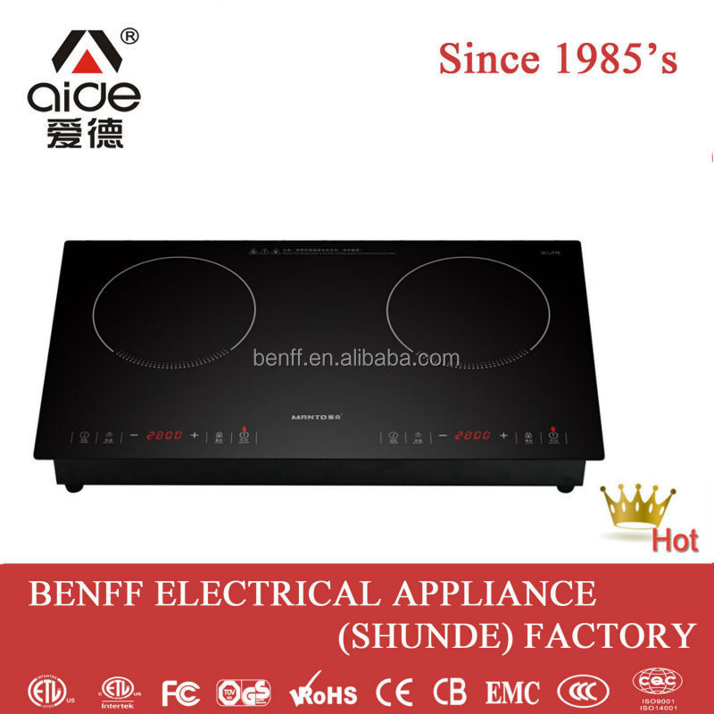 High quality double burner electric induction cooker 2 ring electric hob used home appliance