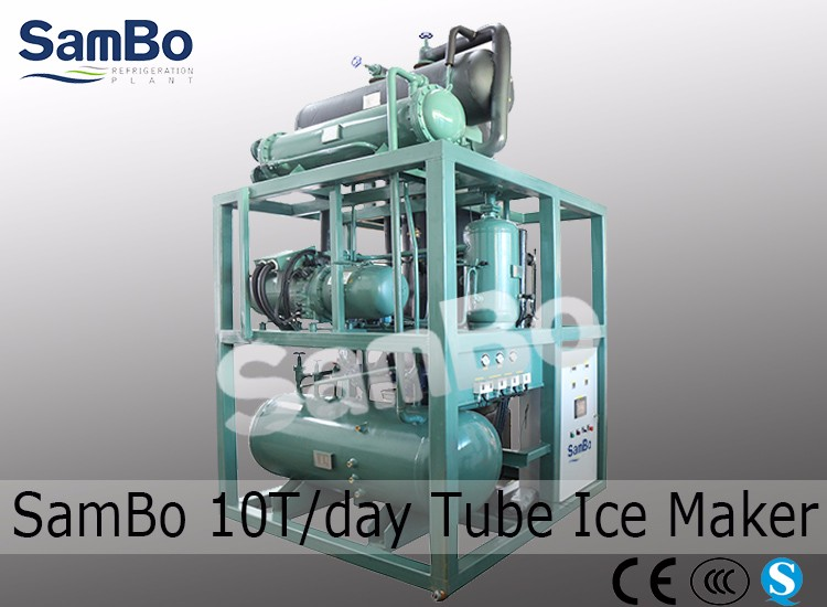 Industrial Heavy Duty 10T Containerized Flake Ice Ice Shape Machine For Fishery Seafood Concrete