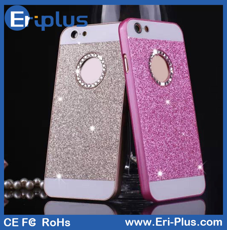 Flashing Glitter Powder Diamond Phone Case For iPhone 5/6/Plus