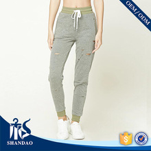 Guangzhou Factory Shandao Summer Women Elastic Waistband Casual OEM Trend cutting of ladies trousers