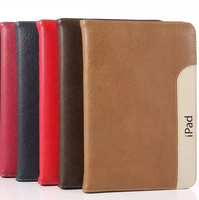 Luxury Tablet PC Panel Dual Color Ultra Slim Cover For iPad Air 2 Full PU Leather Stand Tablet Cover For iPad 6