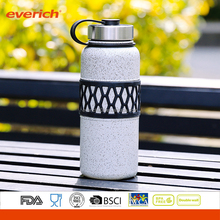 Double wall Vacuum Insulated Stainless Steel Boxing Water Bottle with Silicone Grip