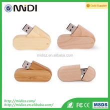 wooden usb flash drive 2.0 for PC with different capacity