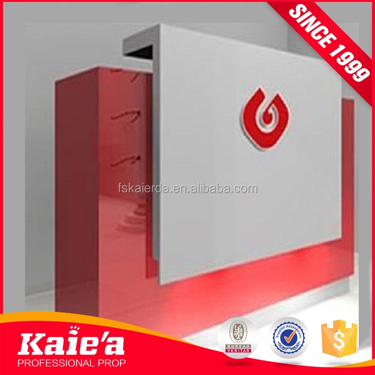 Cheap furniture showcase for shop cash counter design cashier counter
