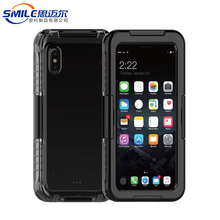Quality-assured hard pc soft silicone full protective waterproof case for iphone x black silicone case