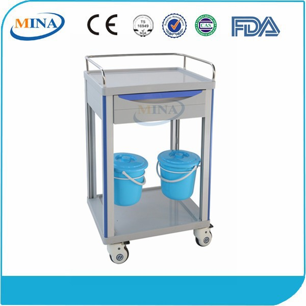 MINA-MT600E5 hospital care medicine delivery trolley with dust baskets