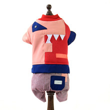 Korea style pet clothing for winter High quality pet clothes dog four legs coat Pet supplies factory in China cheap sale