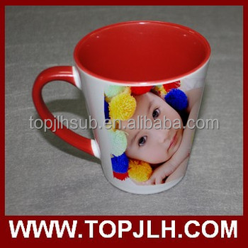 China Manufacturer Custom LOGO White ceramic 11oz Double Colorful Ceramic Mug