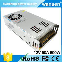 OEM S-600-12 600W 12V DC 50A Constant Voltage Switching Power Supply,12v dc high current power supply