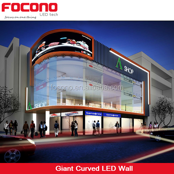 big building wall mounted outdoor p10 full color led display advertising board