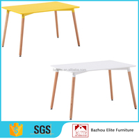 High Quality Desktop Wood Legs Round Dining Table