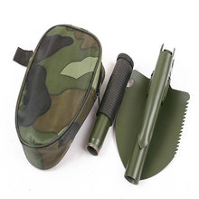 Portable Camping Military Multi-function Folding Survival Shovel with Compass