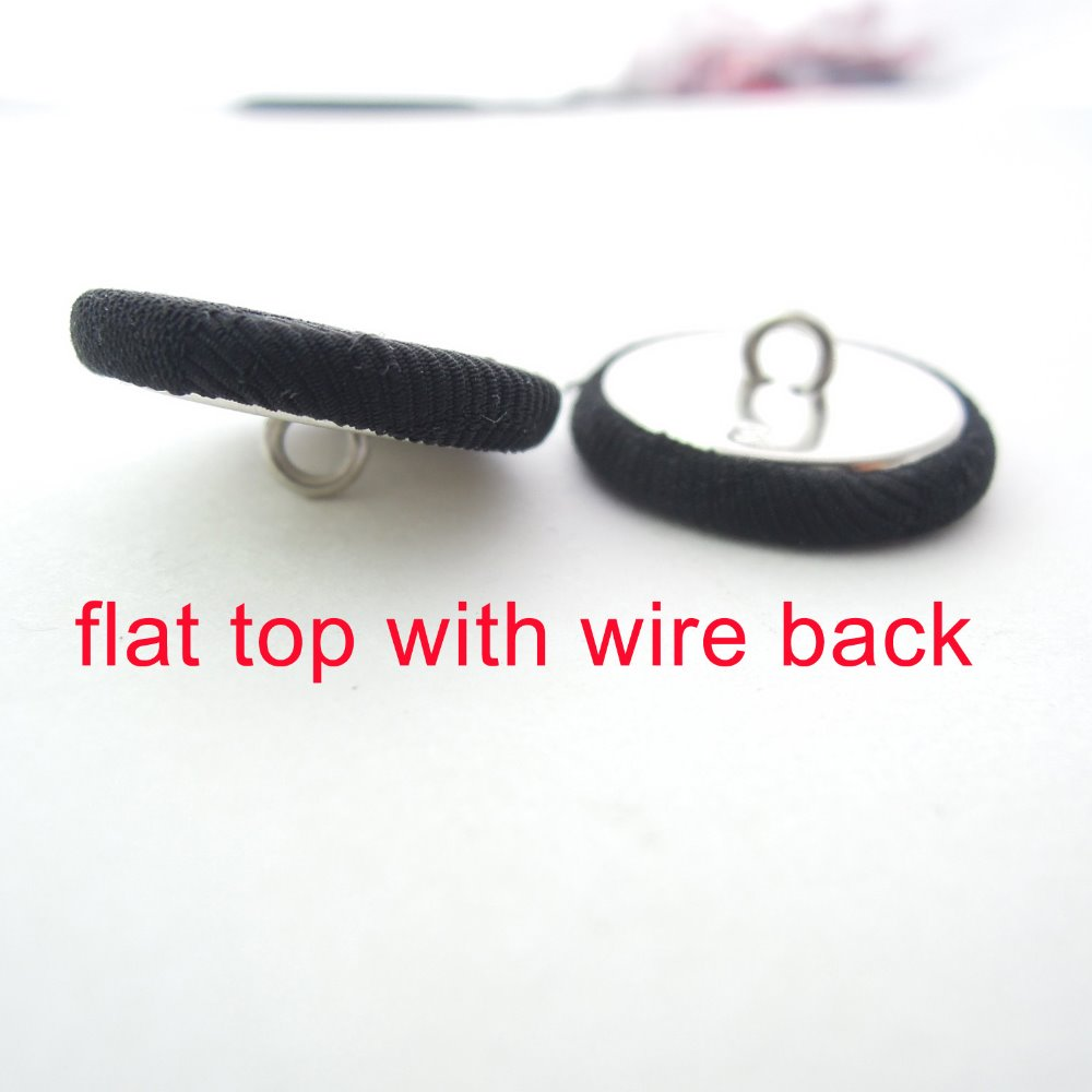flat top shape button with fabric for garment