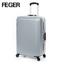 EVA waterproof business travel trolley luggage bag with zipper and combination padlock