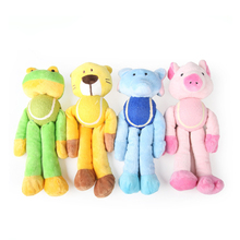 Factory supply hot sale plush chew farm cartoon activity dog toy