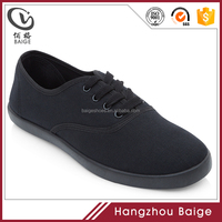 2016 High Quality Black School Men Canvas Shoes