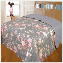 Chinese Microfiber Leaf silk quilts Bedspread ,Bed Sheet Quilt