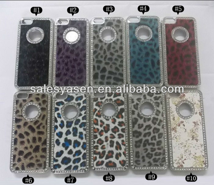 2013 new leopard bling diamond luxury case for iphone 5