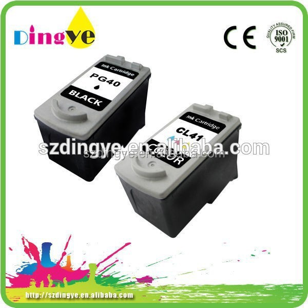 Ink cartridge for canon 41 printer ink cartridge PG40 CL41 for canon pixma ip1880