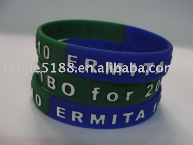 silicone rubber bracelet customized design for promotional gift