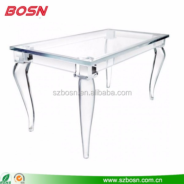 clear acrylic dining room table Perspex dining table