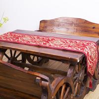 New design luxury applique style tassel velvet table runner