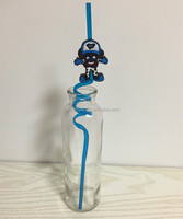 Factory directly plastic PVC cartoon decoration character drinking straws for bar