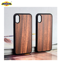 Premium PC Slim Wood Case for iphone X Wood Case