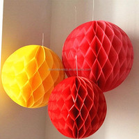 new ideas 2015 tissue paper honeycomb lantern for christmas decoration