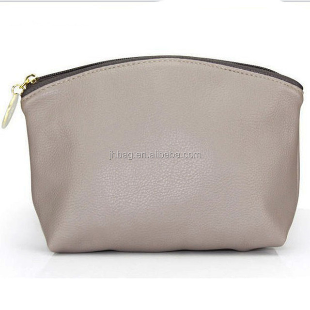 pu cosmetic bag zipper top made in China