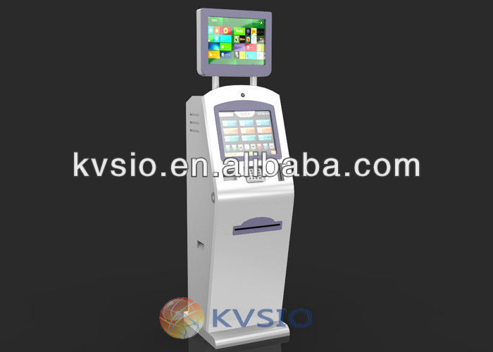 Self Service Machine Interactive Information Terminals Card Issuing Dual Screen Payment Kiosks