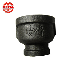 Black Malleable Iron Pipe Fitting Reducer Coupling