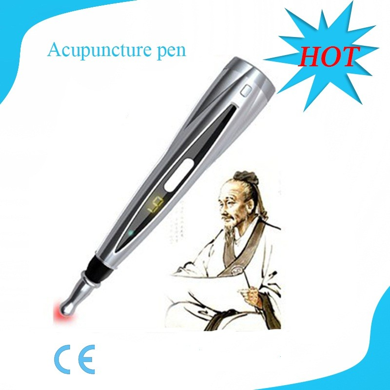 Best selling electronic pain relief acupuncture massager laser meridian energy pen