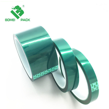 High Temp Self Adhesive PET Green Polyester Tape With Silicone Adhesive For 200 C Heat Protection