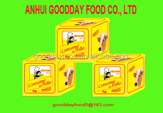 4g*25cubes*80bags halal Muslim beef stock cube