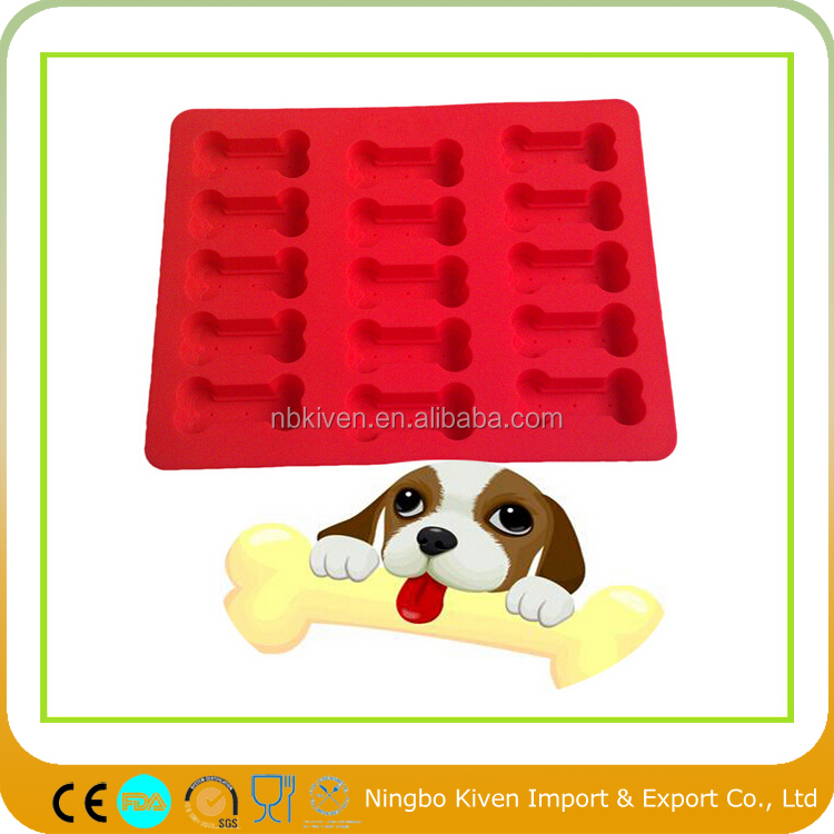 Silicone Puppy Paws Bones Fire Hydrant Shaped Baking Molds-Pan-Ice Trays