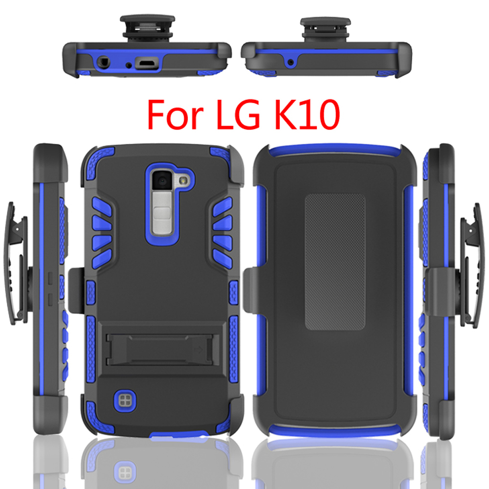 3 <strong>in</strong> 1 Case Hybrid Kickstand PC+TPU Protective Phone Case for LG <strong>K10</strong>, For LG <strong>K10</strong> Case
