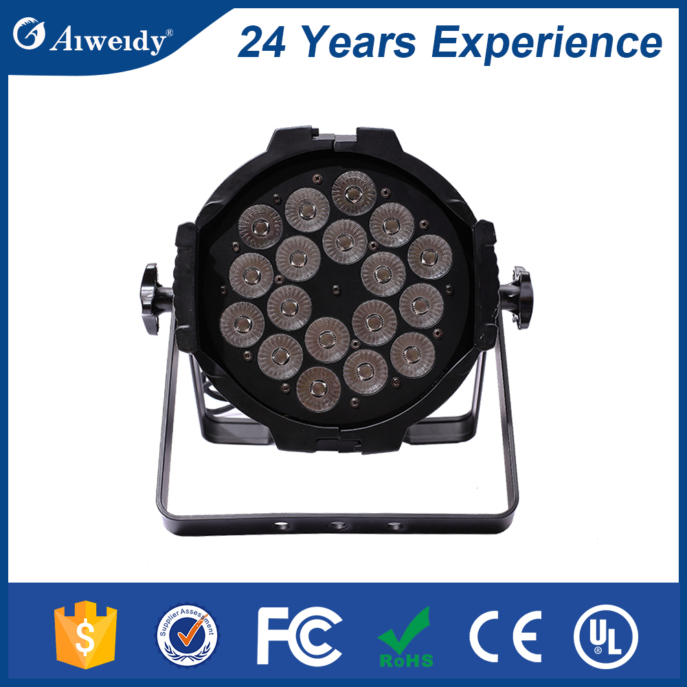 Professional high quality stage dj lighting 18pcs 18W RGBWA+UV 6in1 LED par
