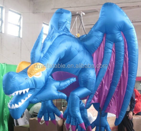 hanging inflatable blue flying zenith dragon for sale